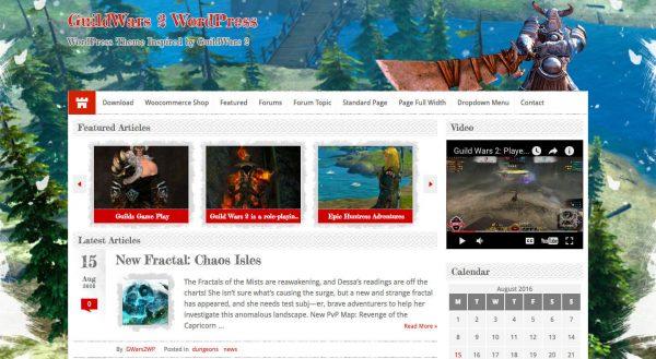Guild Wars WordPress Theme 2